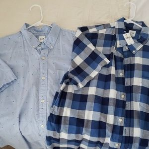 Set of Gap short sleeve button up oxfords